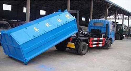 东风多利卡车厢可卸式垃圾车——结构说明